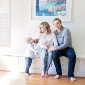 a family portrait during newborn session