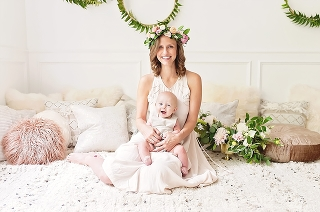 mommy and me styled shoot with gorgeous mama and baby boy